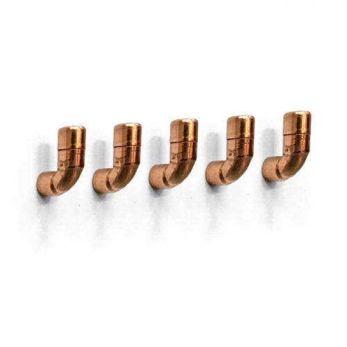 Koperen kapstokhaak | koperen wandhaak | koperen muurhaak