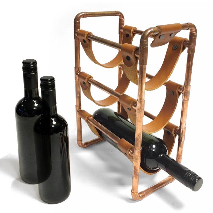 vintage relatiegeschenk wijnrek, retro geschenk